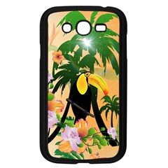Cute Toucan With Palm And Flowers Samsung Galaxy Grand DUOS I9082 Case (Black)
