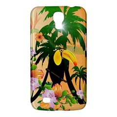 Cute Toucan With Palm And Flowers Samsung Galaxy Mega 6.3  I9200 Hardshell Case
