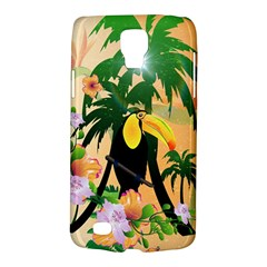 Cute Toucan With Palm And Flowers Galaxy S4 Active