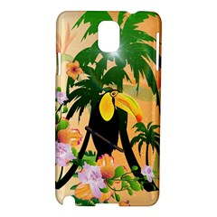 Cute Toucan With Palm And Flowers Samsung Galaxy Note 3 N9005 Hardshell Case