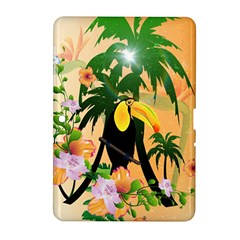 Cute Toucan With Palm And Flowers Samsung Galaxy Tab 2 (10.1 ) P5100 Hardshell Case