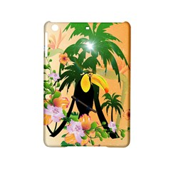 Cute Toucan With Palm And Flowers iPad Mini 2 Hardshell Cases