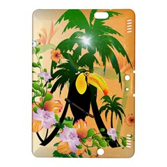 Cute Toucan With Palm And Flowers Kindle Fire Hdx 8 9  Hardshell Case