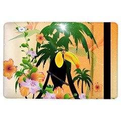 Cute Toucan With Palm And Flowers iPad Air Flip