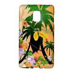 Cute Toucan With Palm And Flowers Galaxy Note Edge
