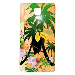 Cute Toucan With Palm And Flowers Galaxy Note 4 Back Case