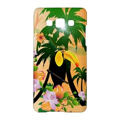 Cute Toucan With Palm And Flowers Samsung Galaxy A5 Hardshell Case