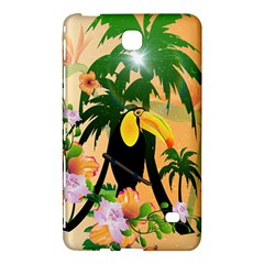 Cute Toucan With Palm And Flowers Samsung Galaxy Tab 4 (7 ) Hardshell Case