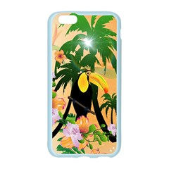 Cute Toucan With Palm And Flowers Apple Seamless iPhone 6/6S Case (Color)