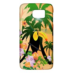 Cute Toucan With Palm And Flowers Galaxy S6