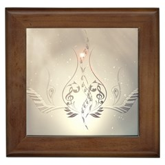 Music, Piano With Clef On Soft Background Framed Tiles