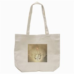 Music, Piano With Clef On Soft Background Tote Bag (Cream)
