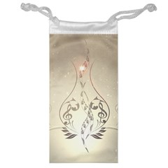 Music, Piano With Clef On Soft Background Jewelry Bags