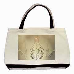 Music, Piano With Clef On Soft Background Basic Tote Bag