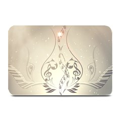 Music, Piano With Clef On Soft Background Plate Mats