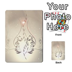 Music, Piano With Clef On Soft Background Multi-purpose Cards (Rectangle)