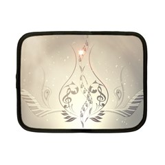 Music, Piano With Clef On Soft Background Netbook Case (Small)