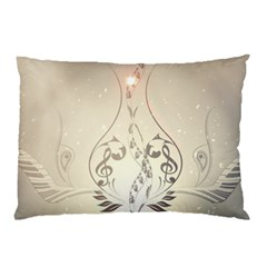 Music, Piano With Clef On Soft Background Pillow Cases