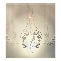 Music, Piano With Clef On Soft Background Shower Curtain 66  X 72  (large)