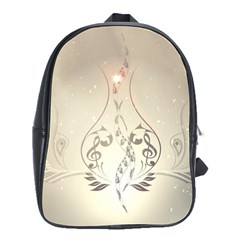 Music, Piano With Clef On Soft Background School Bags(Large)