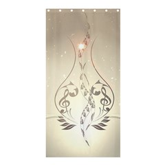 Music, Piano With Clef On Soft Background Shower Curtain 36  x 72  (Stall)