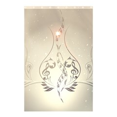 Music, Piano With Clef On Soft Background Shower Curtain 48  x 72  (Small)