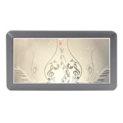 Music, Piano With Clef On Soft Background Memory Card Reader (mini)