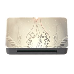 Music, Piano With Clef On Soft Background Memory Card Reader with CF