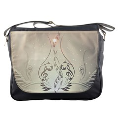 Music, Piano With Clef On Soft Background Messenger Bags