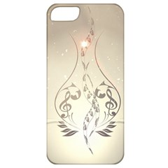 Music, Piano With Clef On Soft Background Apple iPhone 5 Classic Hardshell Case