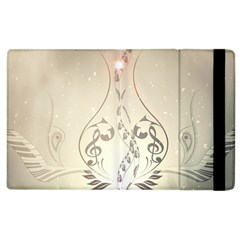 Music, Piano With Clef On Soft Background Apple iPad 3/4 Flip Case