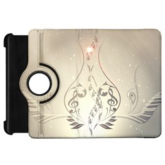 Music, Piano With Clef On Soft Background Kindle Fire HD Flip 360 Case