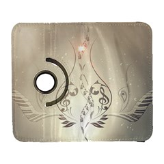 Music, Piano With Clef On Soft Background Samsung Galaxy S  III Flip 360 Case