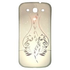 Music, Piano With Clef On Soft Background Samsung Galaxy S3 S III Classic Hardshell Back Case
