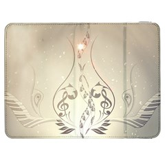 Music, Piano With Clef On Soft Background Samsung Galaxy Tab 7  P1000 Flip Case