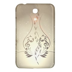 Music, Piano With Clef On Soft Background Samsung Galaxy Tab 3 (7 ) P3200 Hardshell Case