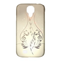 Music, Piano With Clef On Soft Background Samsung Galaxy S4 Classic Hardshell Case (PC+Silicone)
