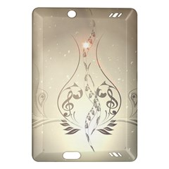 Music, Piano With Clef On Soft Background Kindle Fire HD (2013) Hardshell Case