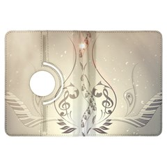 Music, Piano With Clef On Soft Background Kindle Fire Hdx Flip 360 Case