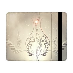 Music, Piano With Clef On Soft Background Samsung Galaxy Tab Pro 8 4  Flip Case