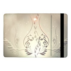 Music, Piano With Clef On Soft Background Samsung Galaxy Tab Pro 10.1  Flip Case