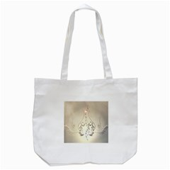 Music, Piano With Clef On Soft Background Tote Bag (White)