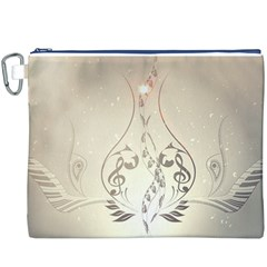 Music, Piano With Clef On Soft Background Canvas Cosmetic Bag (XXXL)