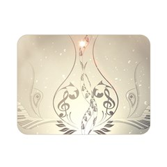 Music, Piano With Clef On Soft Background Double Sided Flano Blanket (mini)