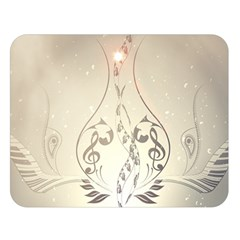 Music, Piano With Clef On Soft Background Double Sided Flano Blanket (large)