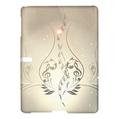 Music, Piano With Clef On Soft Background Samsung Galaxy Tab S (10 5 ) Hardshell Case