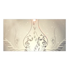 Music, Piano With Clef On Soft Background Satin Shawl