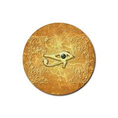 The All Seeing Eye With Eye Made Of Diamond Rubber Round Coaster (4 pack)