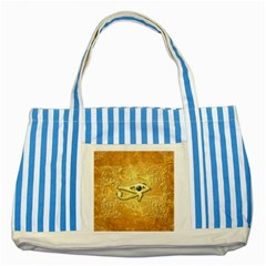 The All Seeing Eye With Eye Made Of Diamond Striped Blue Tote Bag