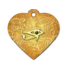 The All Seeing Eye With Eye Made Of Diamond Dog Tag Heart (two Sides)